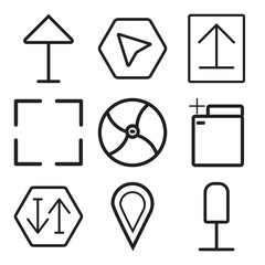 Set Of 9 simple editable icons such as Microphone, Placeholder, Sort