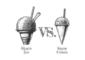 Shaved Snow and shaved Ice