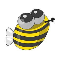 Funny bee, vector.