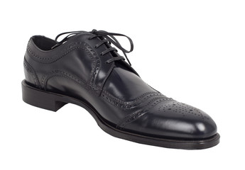 Dark men's classic shoes - isolated.