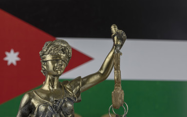 Human Rights Act and Justice Concept , Jordan Flag