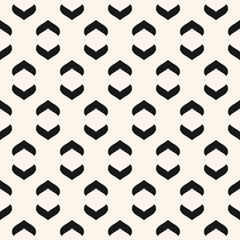 Vector geometric seamless pattern with curved arch shapes. Black and white
