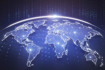 Fotobehang - Global business background