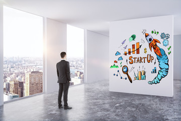 Leadership, success and startup concept