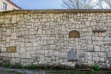 Mur de l'ancien cimetière Juif de Cracovie