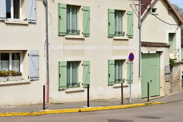 Vernouillet; France - april 7 2017 : picturesque city center