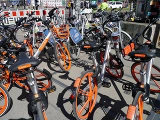 Leihräder-Chaos in Berlin-Friedrichshain