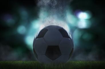 Rauchender Fussball