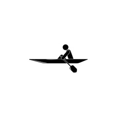 rowing illustration. Element of sport for mobile concept and web apps. Detailed rowing illustration can be used for web and mobile. Premium icon