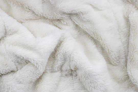 White faux fur blanket full frame