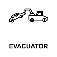 car in evacuator icon. Element of car repair for mobile concept and web apps. Detailed  icon can be used for web and mobile. Premium icon