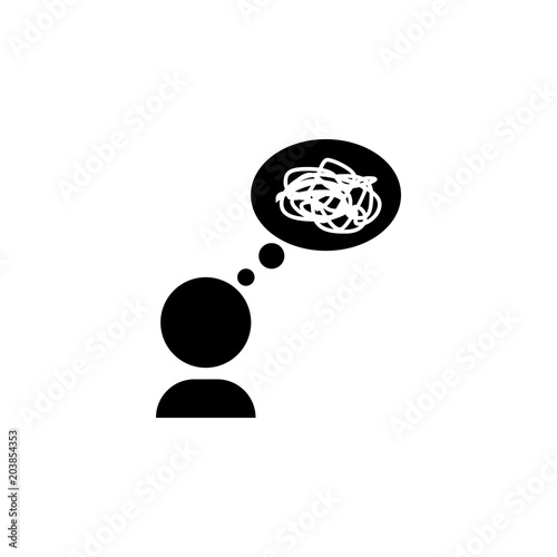 Mess In Thoughts Icon Simple Element Illustration Mess In Thoughts
