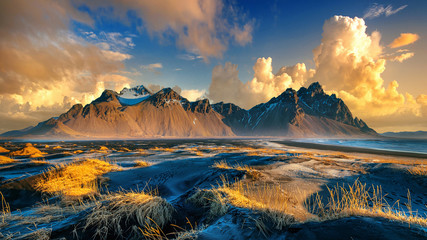 Vestrahorn mountains in Stokksnes, Iceland.