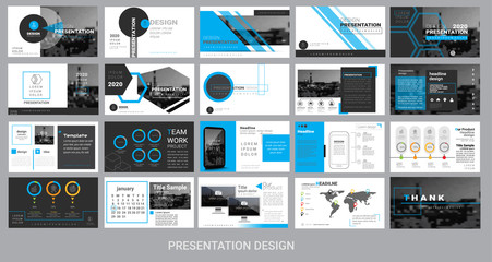 presentation template for promotion, advertising, flyer, brochure, product, report, banner, business, modern style on black and cyan color background. vector illustration