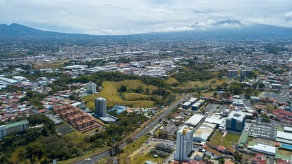 Beautiful aerial View of the Sabana Costa Rica