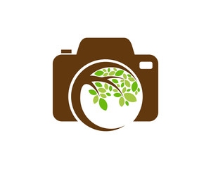 Camera Tree Icon Logo Design Element