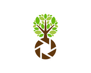 Photo Tree Icon Logo Design Element