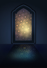 Ramadan Background mosque window