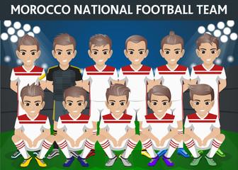 Morocco National Football Team for International Tournament