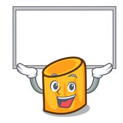Up board rigatoni character cartoon style