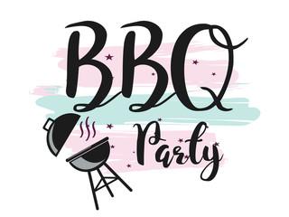 creative vector illustration of Barbecue party design,  invitation, logo. BBQ template menu design, Food flyer, advertisement, ad design.