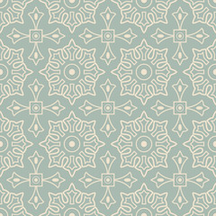 Antique seamless background Round Cross Square Geometry Flower