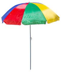 parasol de plage avec piquet, fond blanc