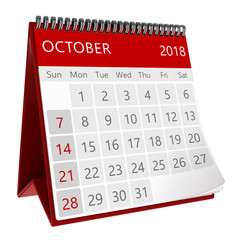 3d isolated calendar