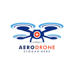 drone logo template vector icon. photography drone vector. quadcopter vector icon