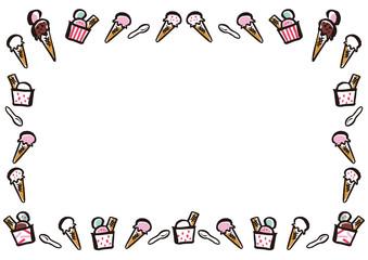 アイスクリーム  フレーム
