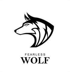 Black wolf, Wild wolf. Black wild dog. k-9, Dog logo, Canine logo suitable for team mascot, community icon, emblem, product identity, illustration for clothing, etc.