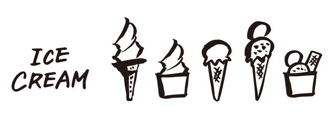アイスクリーム ソフトクリーム 素材 横