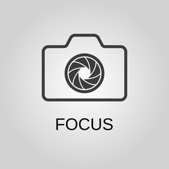 Focus icon. Focus symbol. Flat design. Stock - Vector illustration