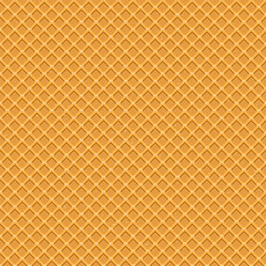 Seamless pattern. The texture of the waffle, an ice cream cone. Cartoon illustration for web, site, advertising, banner, poster, flyer, business card. Vector illustration.