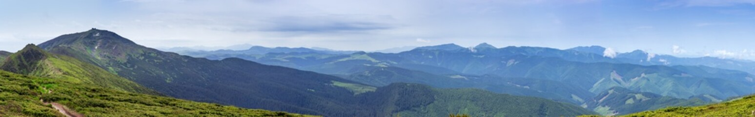 Large panorama of the Eastern Carpathians, Ukraine