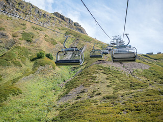 Image of funicular in mountain slope
