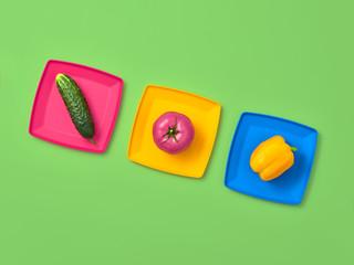 Vegetables Vegan Creative Set.Food Cooking Concept