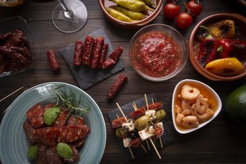 Mediterranean tapas appetizers starters