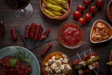 Mediterranean tapas appetizers