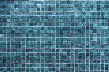 Blue tiles pattern for background