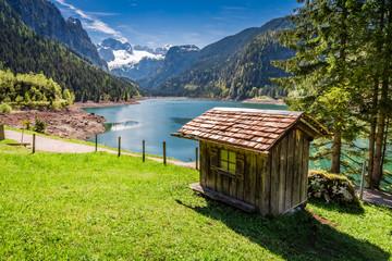 Spring in Gosausee lake in Gosau, Alps, Austria
