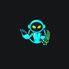 robot mascot vector