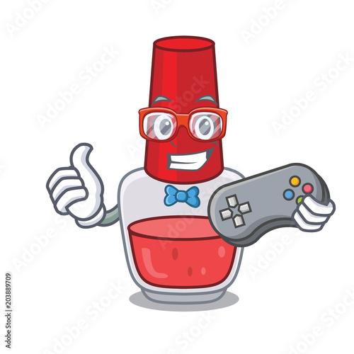 Gamer Nail Polish Mascot Cartoon Stock Image And Royalty Free