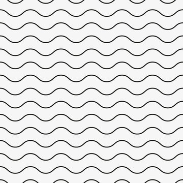 Wavy, waving horizontal lines seamlessly repeatable seamless pattern