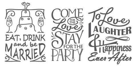 Wedding quote set design