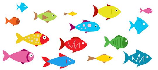 Fish Icons vector illustration