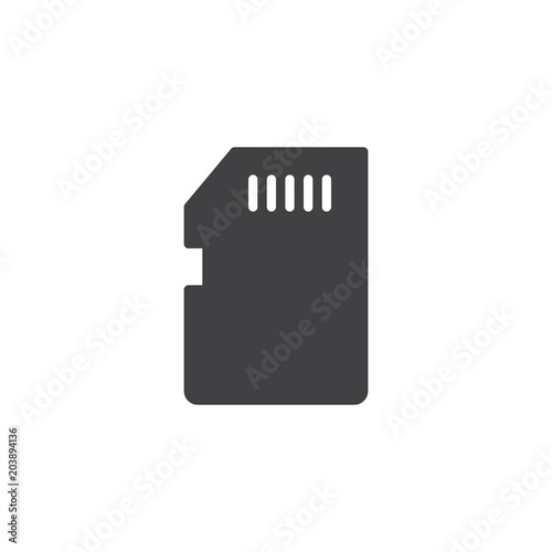 Memory Card Vector Icon Filled Flat Sign For Mobile Concept And Web