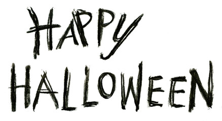 Happy Halloween drawing text decoration