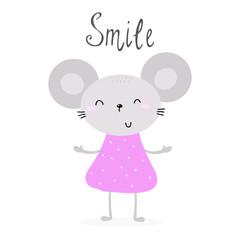 pretty little mouse vector illustration
