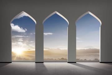 Mosque windows Wall mural